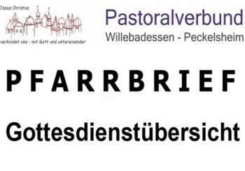 Pfarrbrief / Gottesdienstübersicht