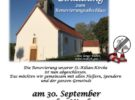 Feier zum Abschluss der Renovierungsarbeiten an St. Kilian